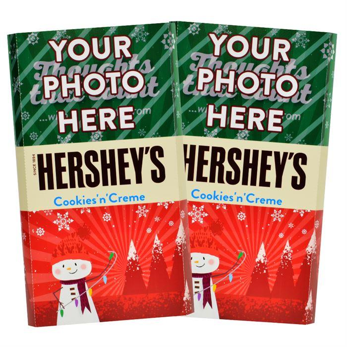 Snowman<br>Personalized HERSHEY'S Giant Cookies 'n' Creme Candy Bar<br>(2 pack)