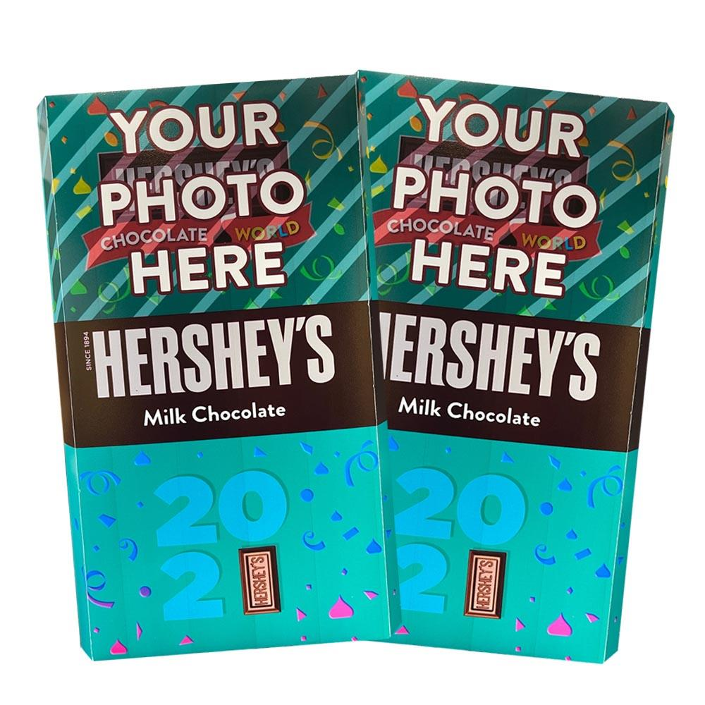 New Year 2021 Design<br>Personalized HERSHEY'S Giant Milk Chocolate Bar<br>(2 pack)