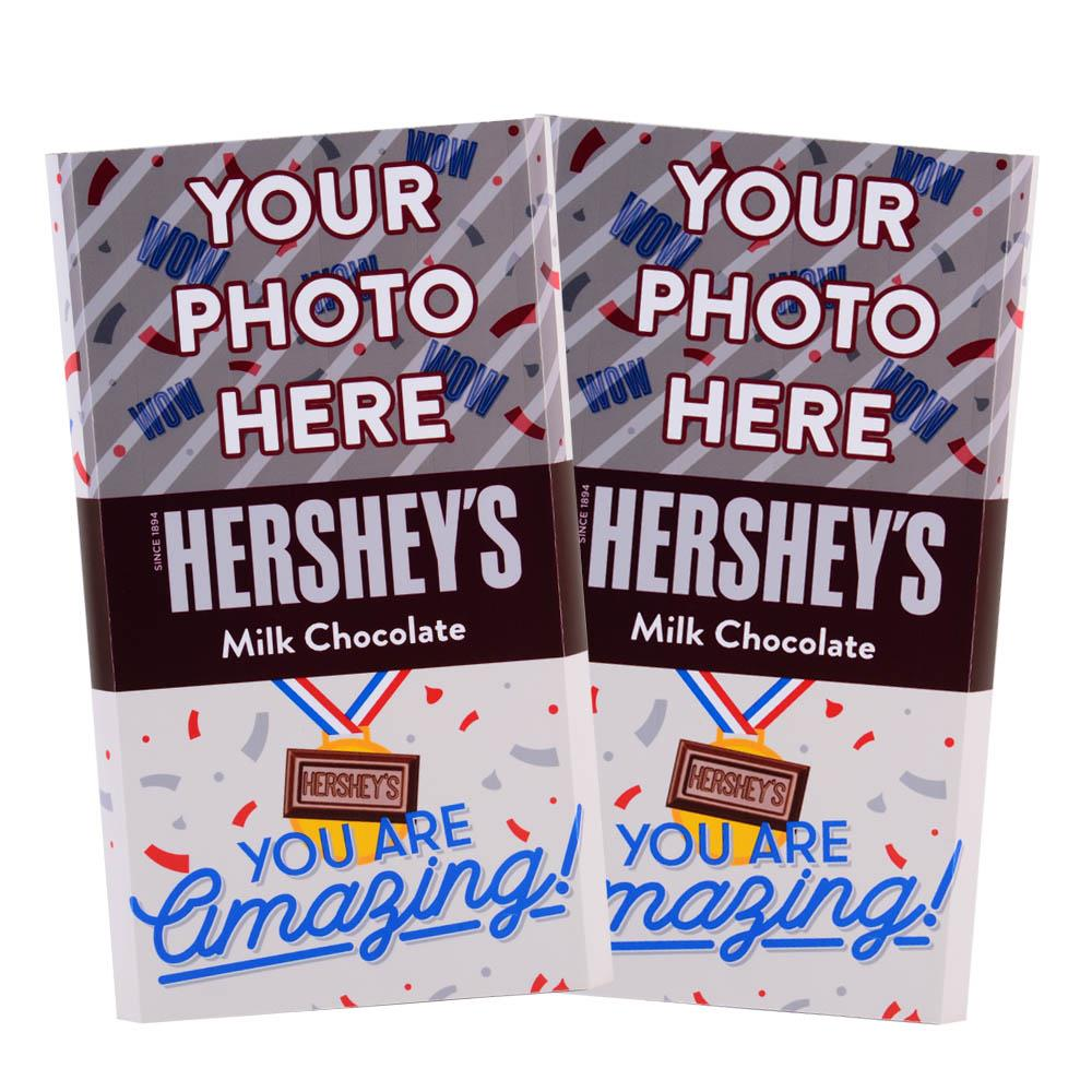 Amazing Confetti Design<br>Personalized HERSHEY'S Giant Milk Chocolate Bar<br>(2 pack)