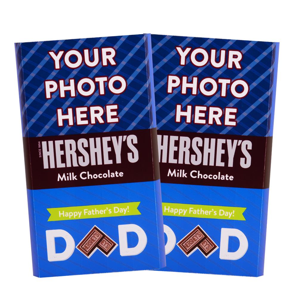 Father's Day Stripes Design<br>Personalized HERSHEY'S Giant Milk Chocolate Bar<br>(2 pack)