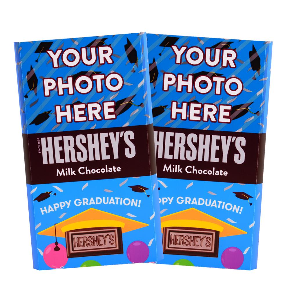 Graduation Design<br>Personalized HERSHEY'S Giant Milk Chocolate Bar<br>(2 pack)