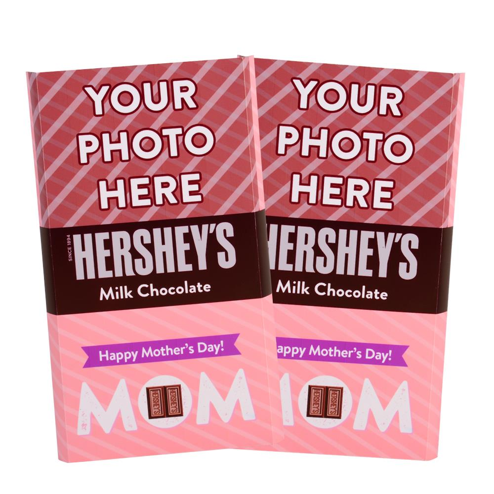 Mother's Day Stripes Design<br>Personalized HERSHEY'S Giant Milk Chocolate Bar<br>(2 pack)