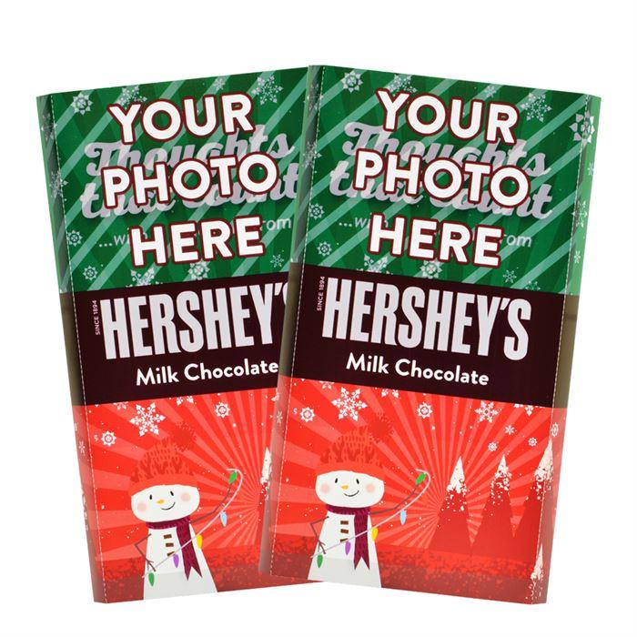 Snowman Design<br>Personalized HERSHEY'S Giant Milk Chocolate Bar<br>(2 pack)