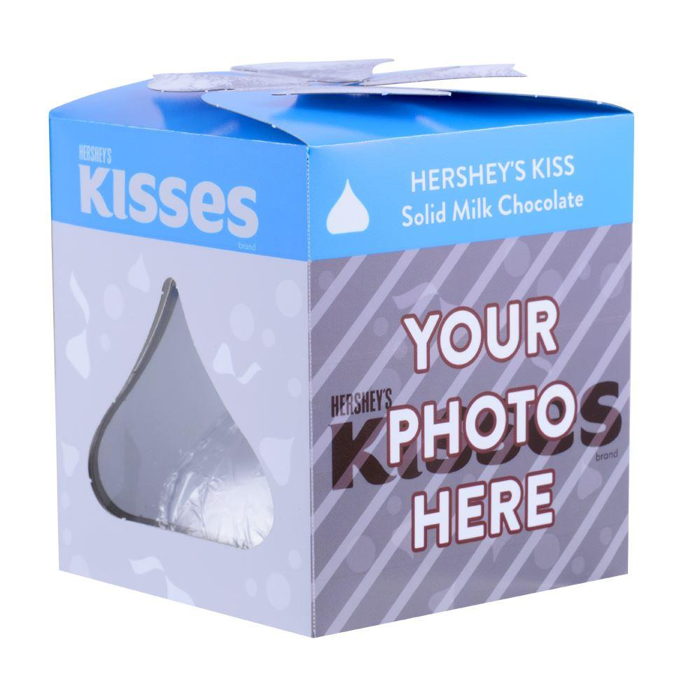 Silver KISSES Confetti Design<br>Personalized 7 oz. KISSES Milk Chocolate Candy