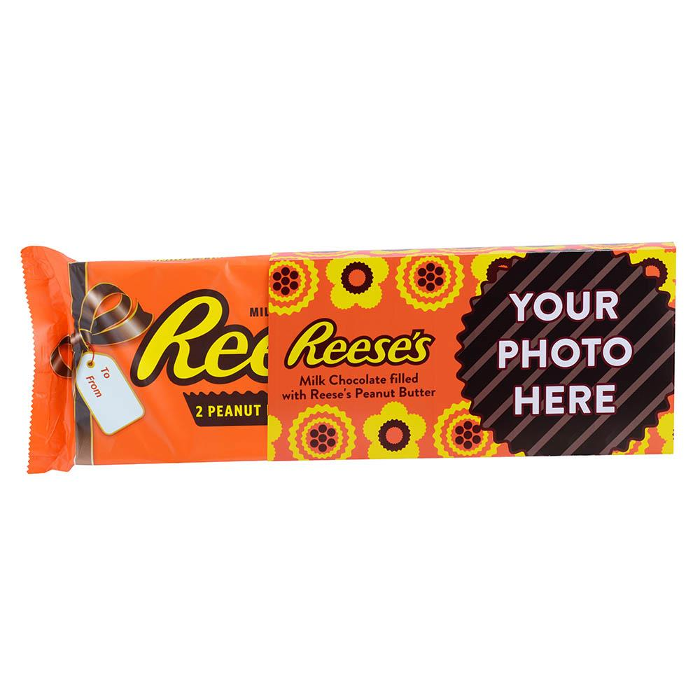 Flowers Design<br>Personalized World's Largest 1 lb. REESE'S Peanut Butter Cups