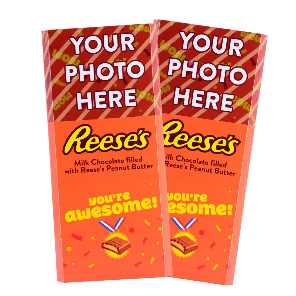 You're Awesome Design<br>Personalized REESE'S Giant Peanut Butter Filled Bars<br>(2 Pack)