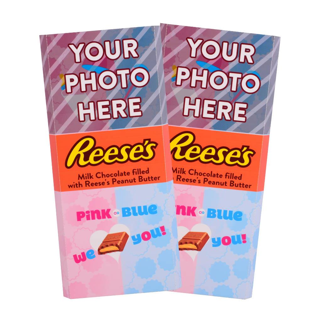 Baby Gender Reveal Design<br>Personalized REESE'S Giant Peanut Butter Filled Bars<br>(2 Pack)