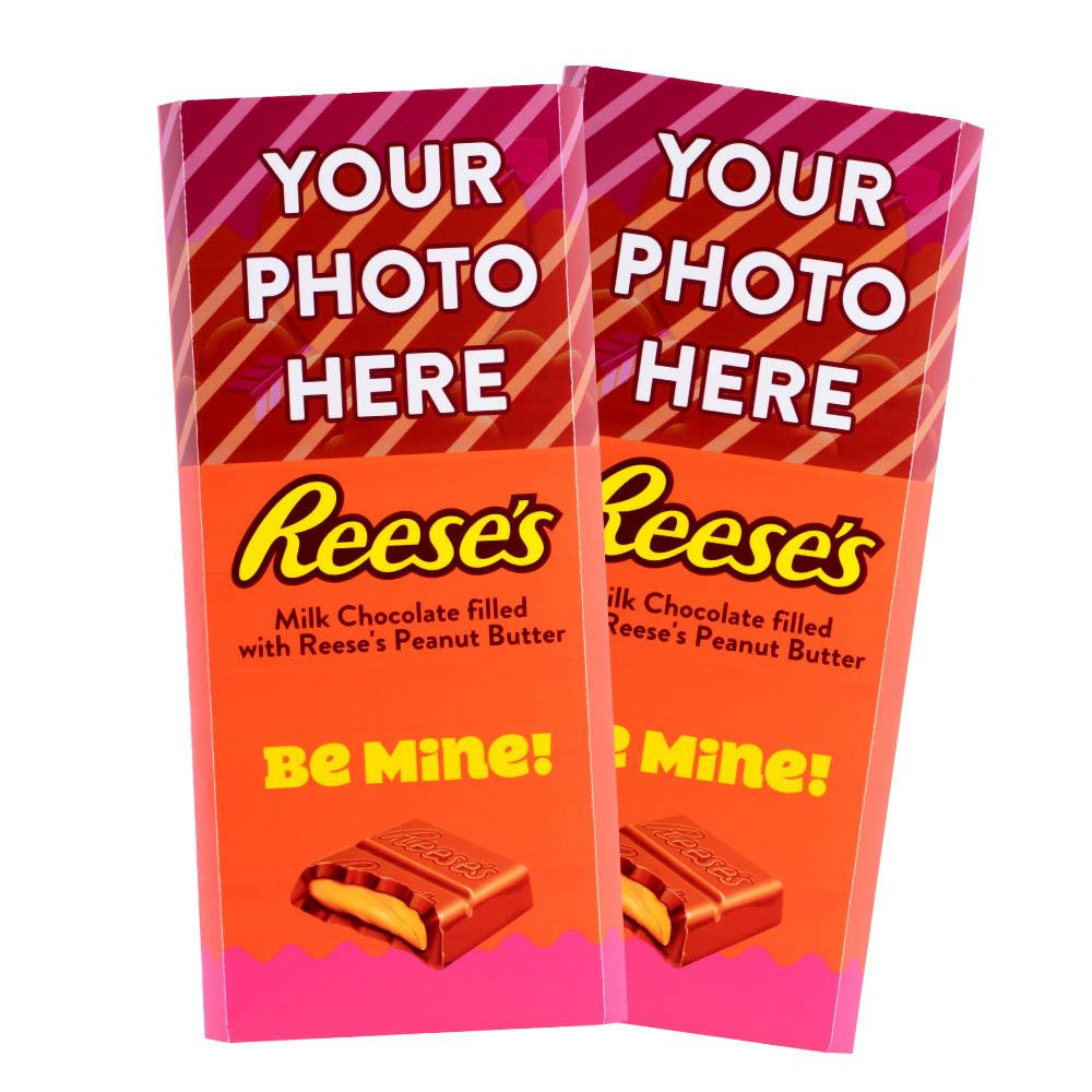 Be Mine Design<br>Personalized REESE'S Giant Peanut Butter Filled Bars<br>(2 Pack)
