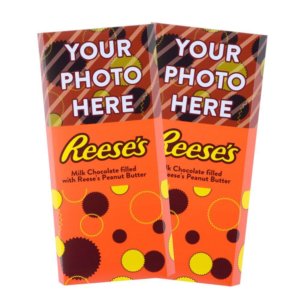 Geometric Design<br>Personalized REESE'S Giant Peanut Butter Filled Bars<br>(2 Pack)