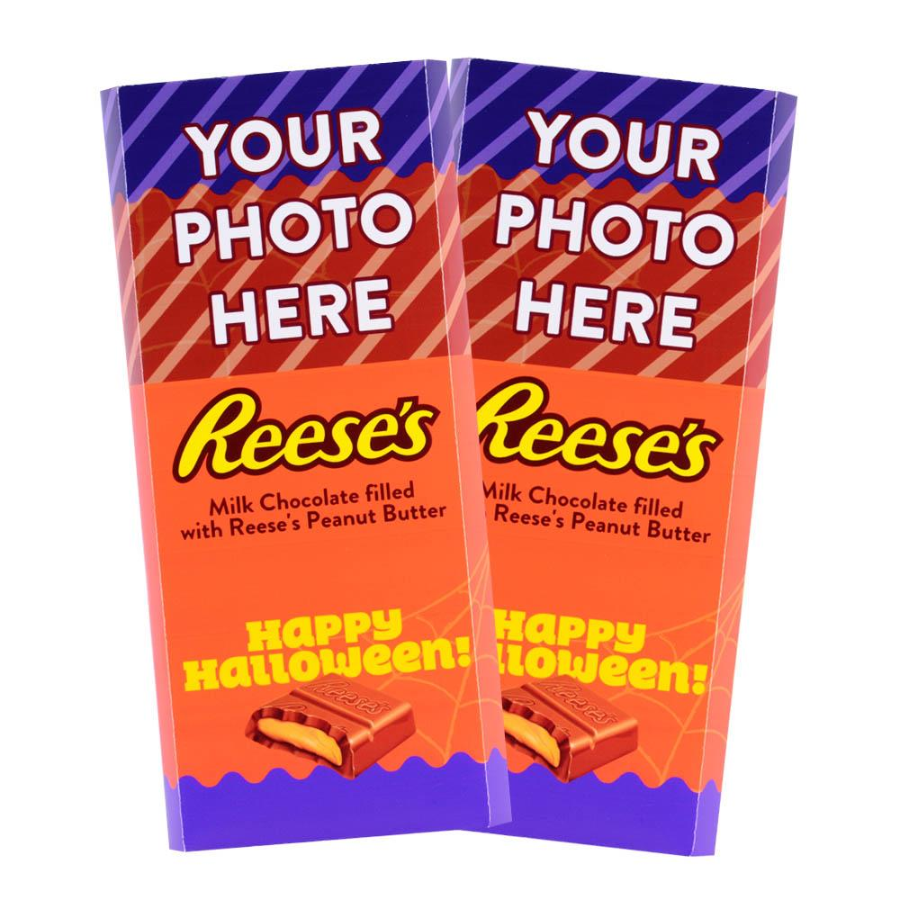 Purple Halloween Design<br>Personalized REESE'S Giant Peanut Butter Filled Bars<br>(2 Pack)