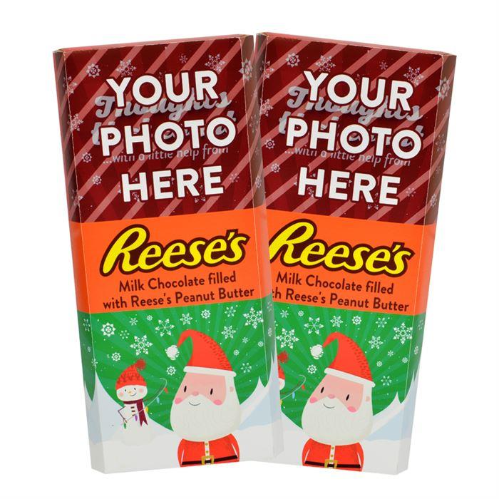 Santa<br>Personalized REESE'S Giant Peanut Butter Filled Bars<br>(2 Pack)