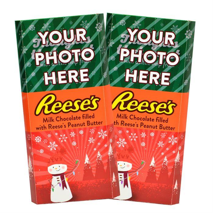 Snowman<br>Personalized REESE'S Giant Peanut Butter Filled Bars<br>(2 Pack)