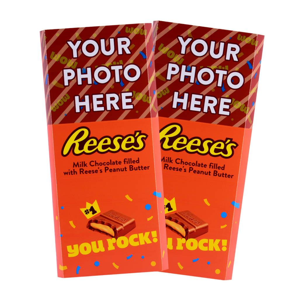 You Rock Design<br>Personalized REESE'S Giant Peanut Butter Filled Bars<br>(2 Pack)