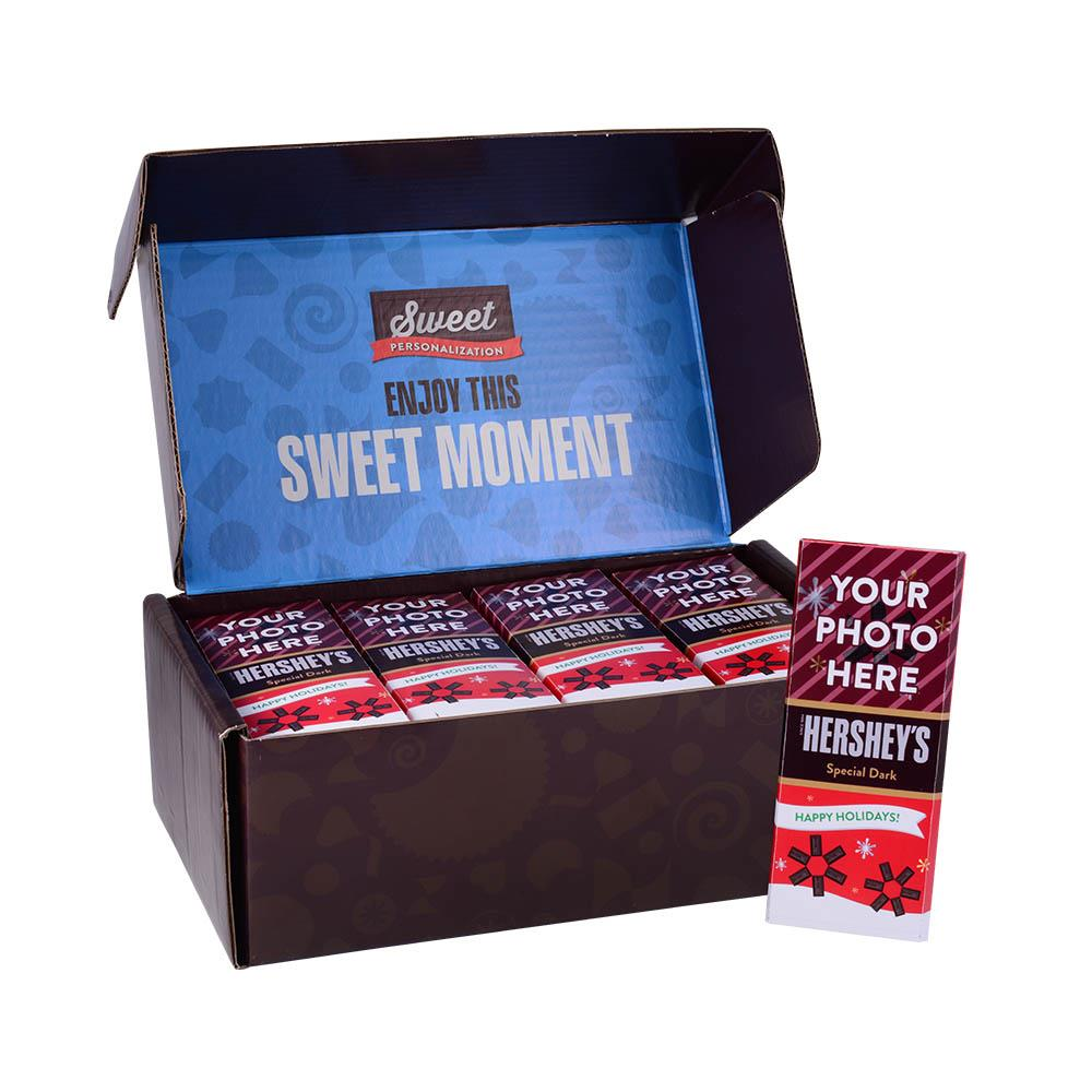 Happy Holidays Design<br>Personalized HERSHEY'S 1.45oz Special Dark Candy Bar<br>(36 pack)