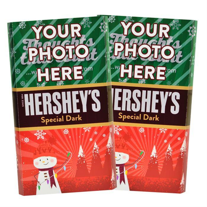 Snowman<br>Personalized HERSHEY'S Giant Special Dark Candy Bar<br>(2 pack)